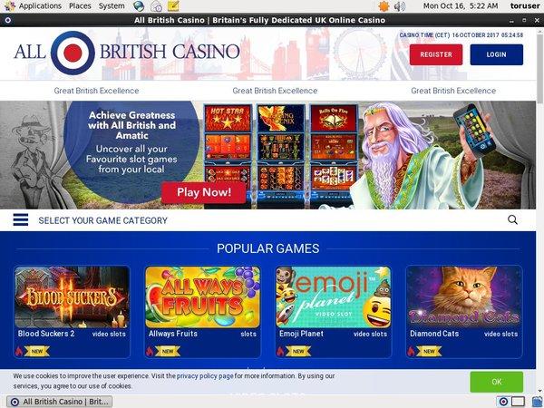 All British Casino Free Code