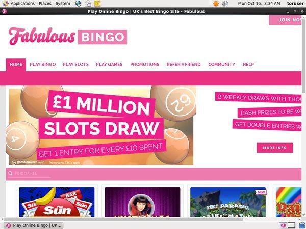Fabulous Bingo Registrese