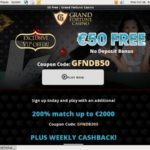 Grand Fortune Maximum Deposit