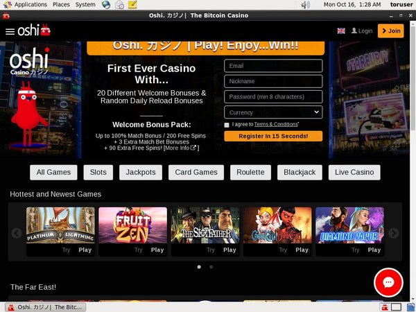 Oshi Casino Join Up Offer