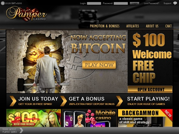 Pamper Casino Gambling Offers