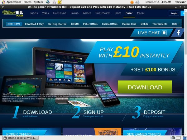 William Hill Poker Signup Bonuses