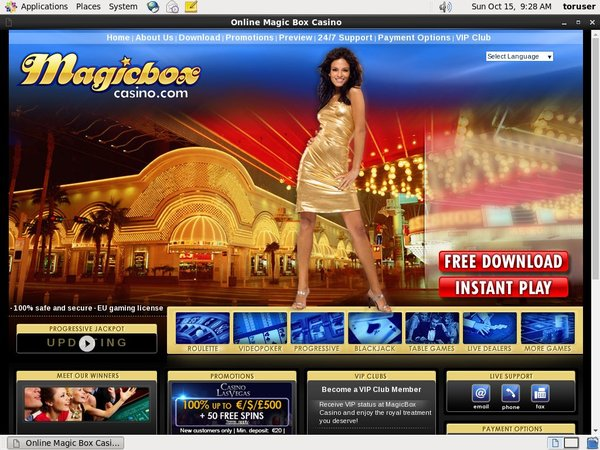 Magic Box Casino Log In