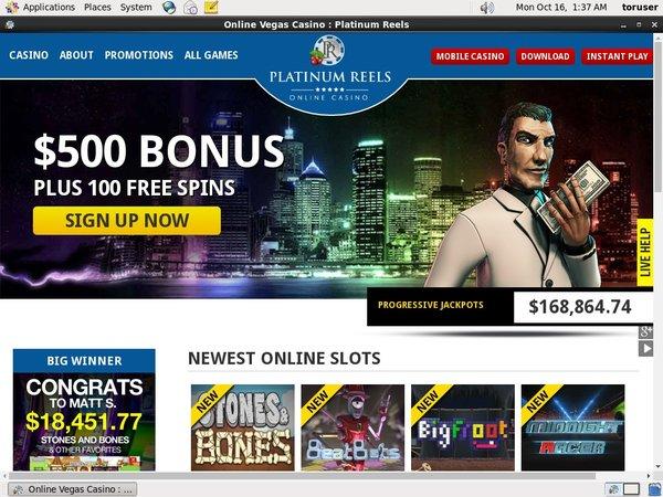 Platinumreels Deposit Bonus