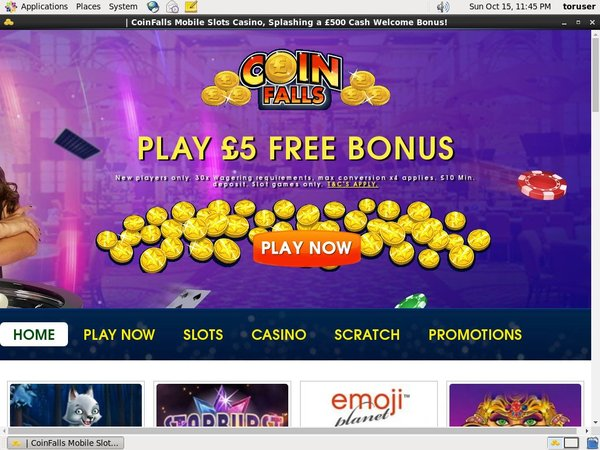 Coin Falls Casino Bet