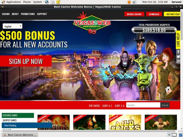 Welcome Offer Vegas2web