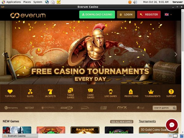 Free Everum Casino Bonus