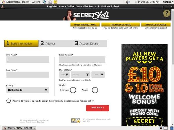 Secretslots 保証金