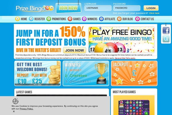 Coupon Prize Bingo