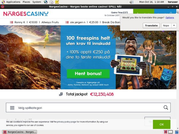 Norges Casino Sign Up Form