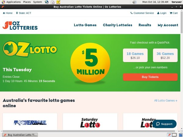 Oz Lotteries Online Slots