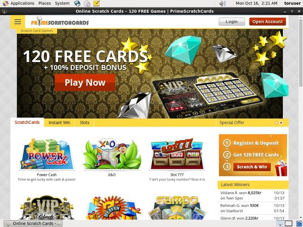 Primescratchcards No Download
