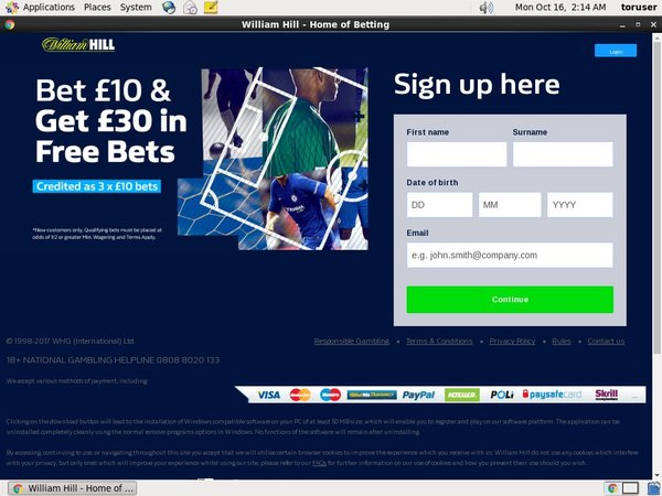 William Hill Sports Bonus Money