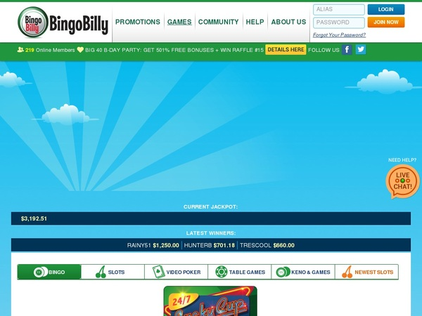 Bingobilly Sign Up Free