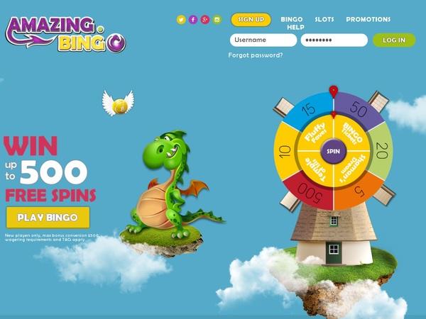 Amazing Bingo Inscrivez-vous