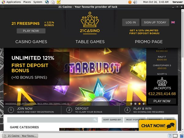 21casino Bonus Offer