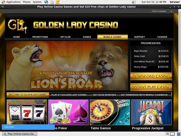 Goldenladycasino Spins