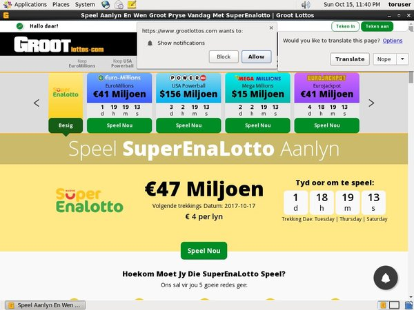Groot Lottos Max Limit