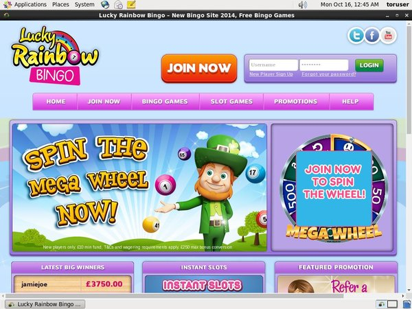 Luckyrainbowbingo Maximum Bet