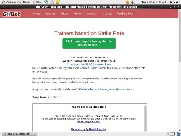 Strike Rate Trainers Paypal Deposit