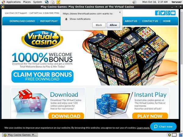 Virtual Casino Free Bonus Code