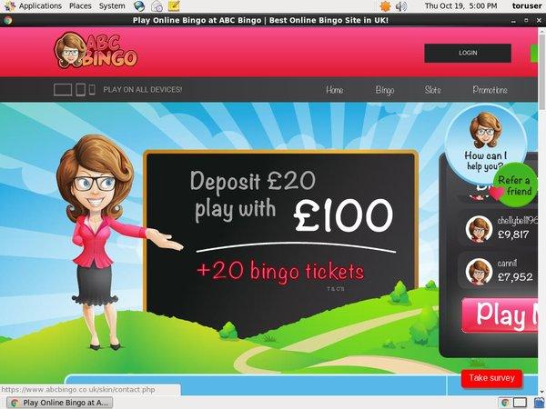 ABC Bingo New Player Bonus