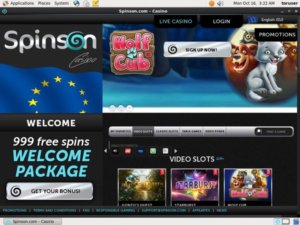 Spinson New Customer Offer