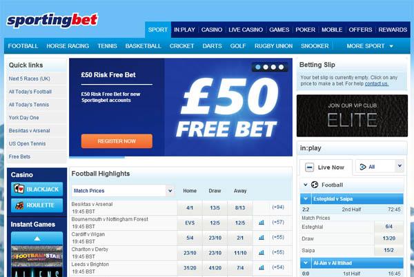 Sporting Bet High Roller Bonus