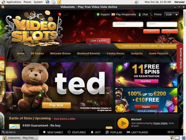 Videoslots Gambling Sites