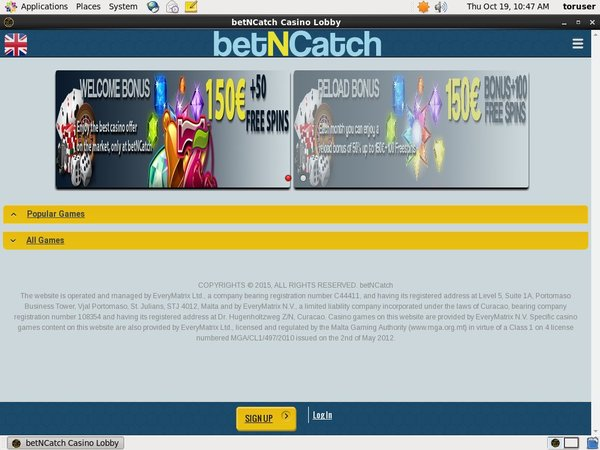 Betncatch Free Bet Terms