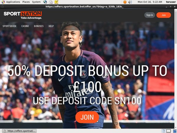 Sportnation Deposit Coupon