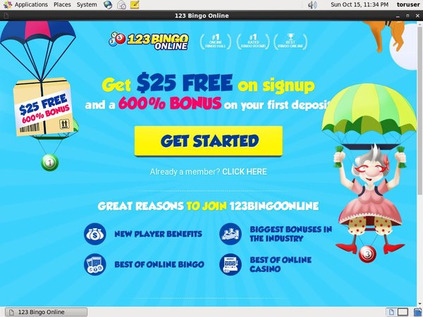 123 Bingo Online Sign Up Bonus