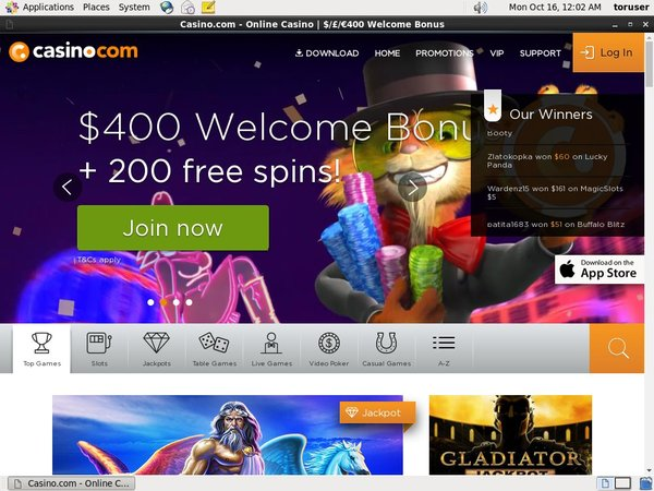 Casinocom With Visa Card