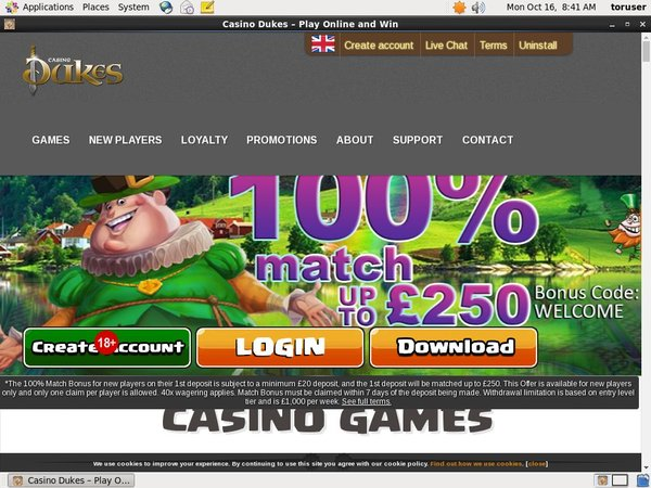 Casinodukes Registration
