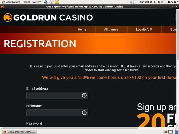 Goldruncasino Mobile Casino