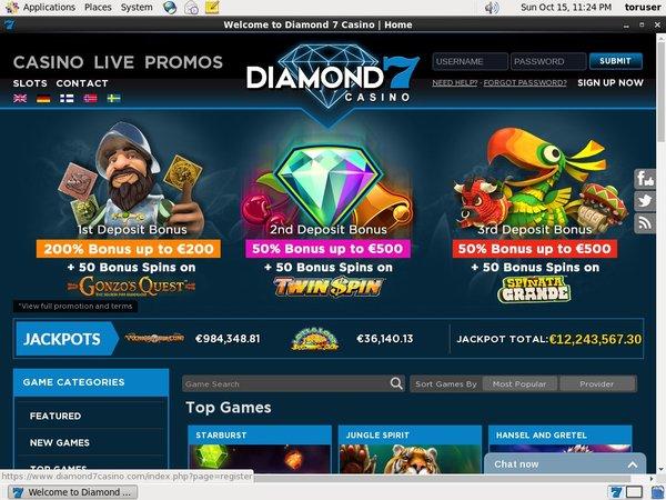 How To Create Diamond7 Account