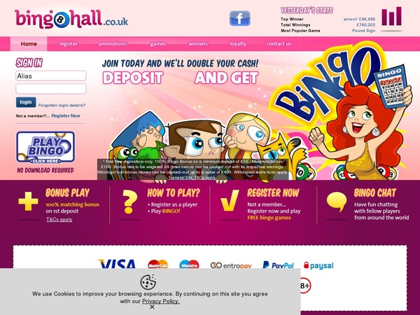 Bingo Hall Baccarat Bonus