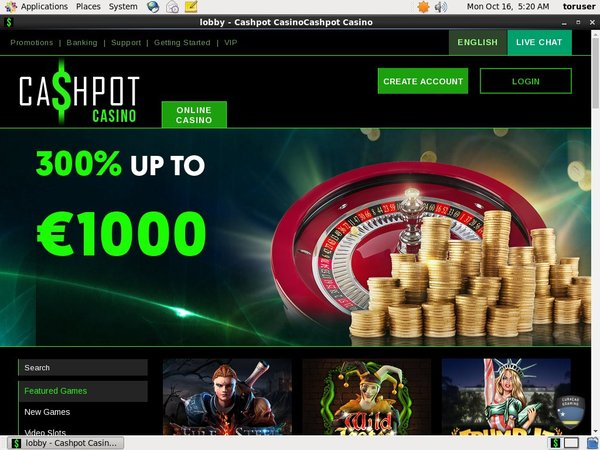 Open Cashpot Casino Account