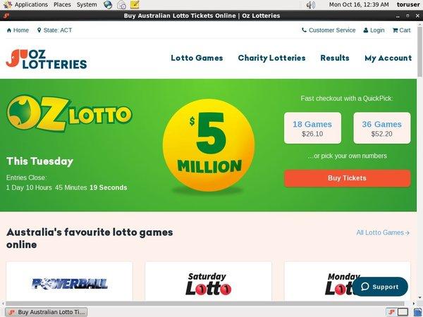Oz Lotteries Casino App