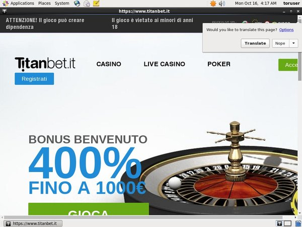 Titanbet.it Poker Paypal