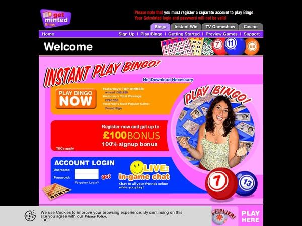 Get Minted Bingo Online Casinos