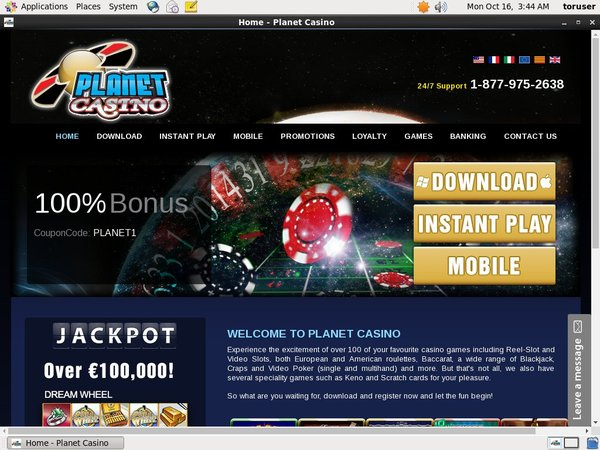 Planetcasino Minimum Bet