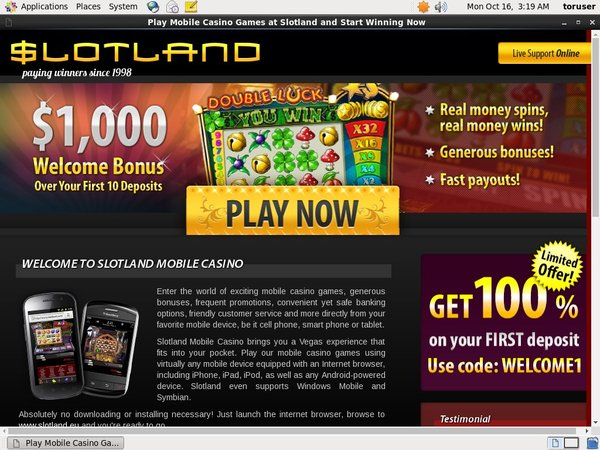 Slot Land Mobile Coupons