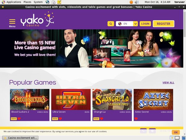 Sign Up Yako Casino