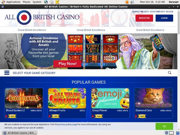 Allbritishcasino Desktop Site Login