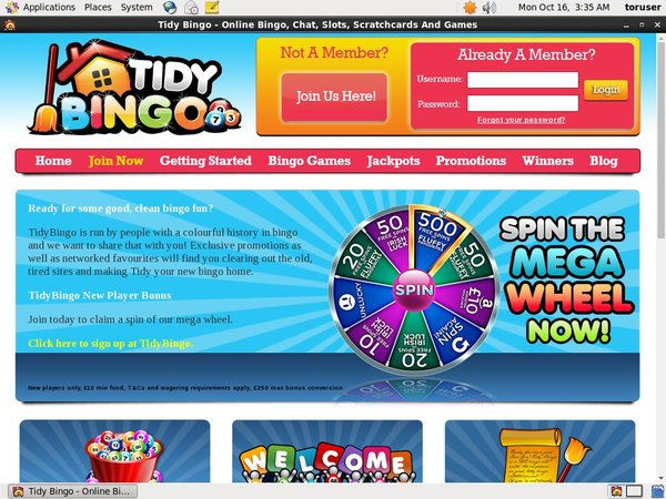 Tidy Bingo How To Register