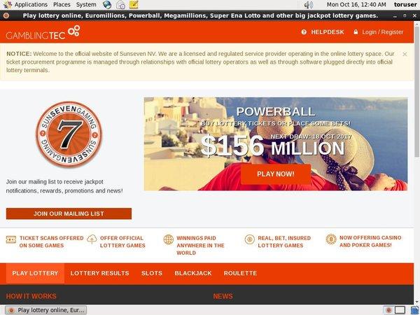 Sun 7 Lottery Canadian